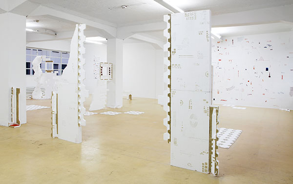 Sara Mejia Kriendler. Installationsansicht im Magazin4