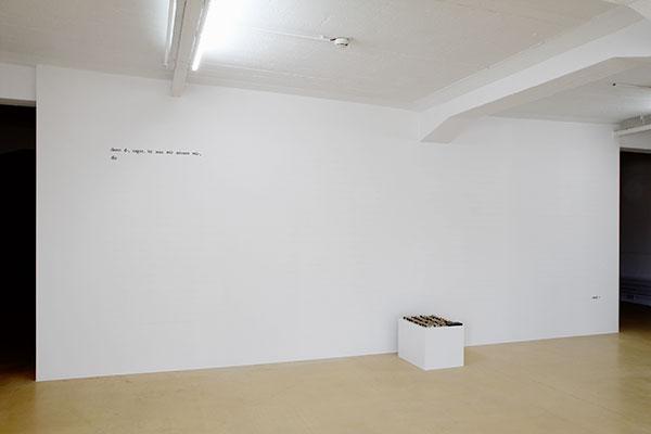Anja Utler. jana, vermacht (Textinstallation), 2014